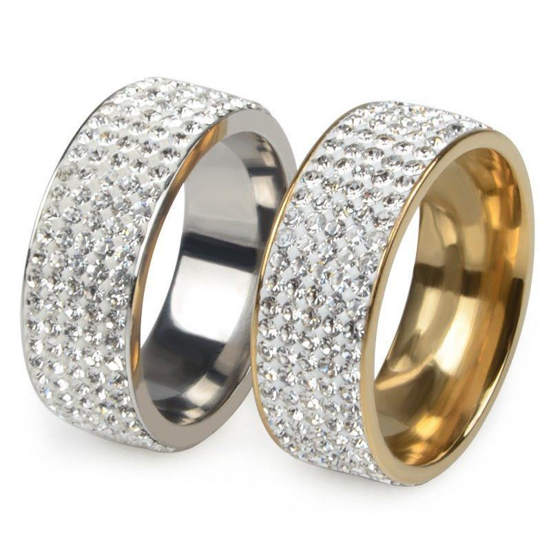 5 Row Crystal Stainless Steel Ring Special