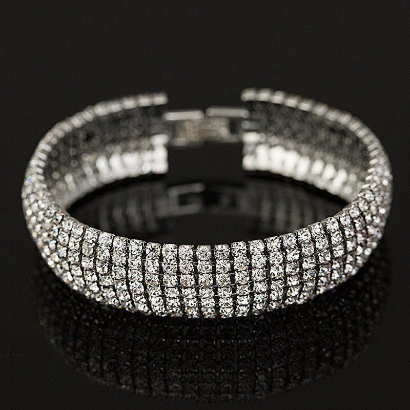 Full Rhinestone Classic Crystal Pave Link Bracelet Special