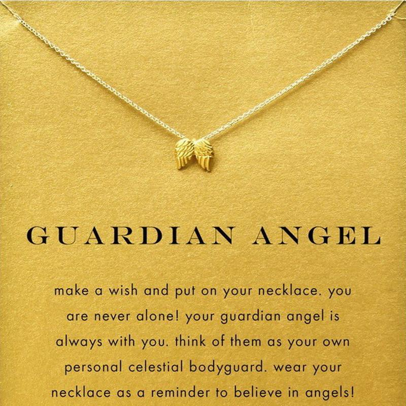 Guardian Angel Wings Pendant Necklace