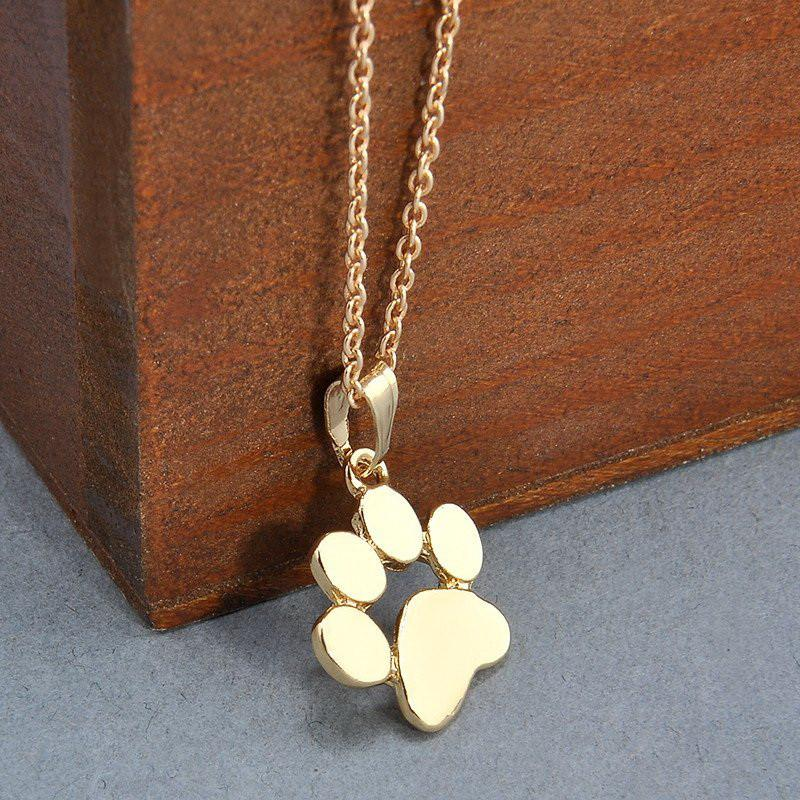 Cute Paw Print Chain Pendant Necklace