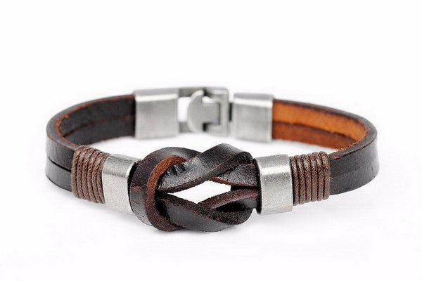 Knight's Courage Leather Bandage Wrap Bracelet