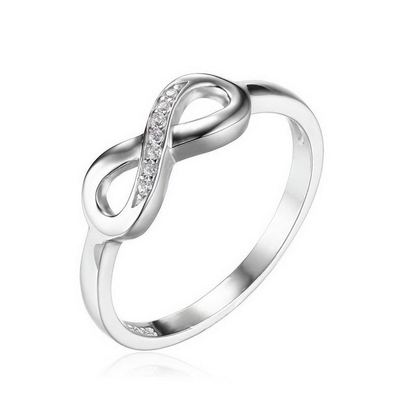 Infinity Forever Love Cubic Zirconia Anniversary Promise Ring
