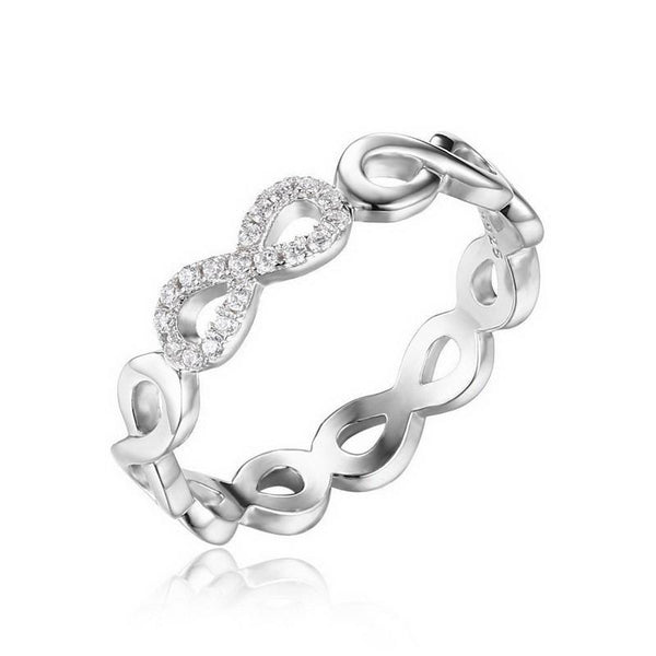 Infinity Plus Forever Love Cubic Zirconia Anniversary Promise Ring
