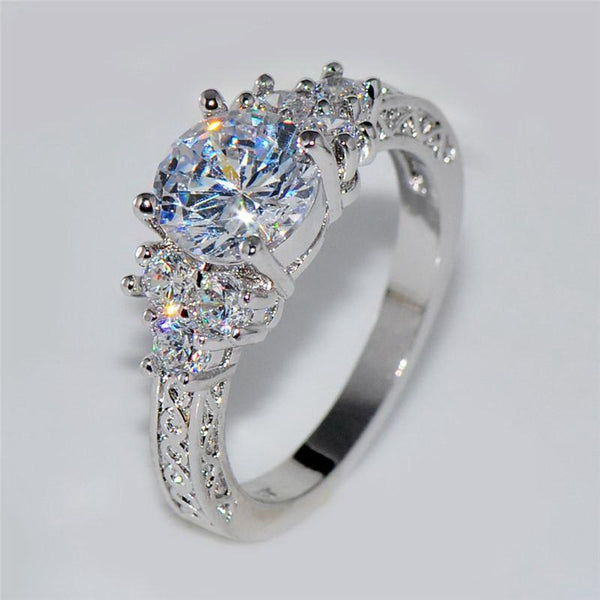 Splendid Crystal Wedding Ring