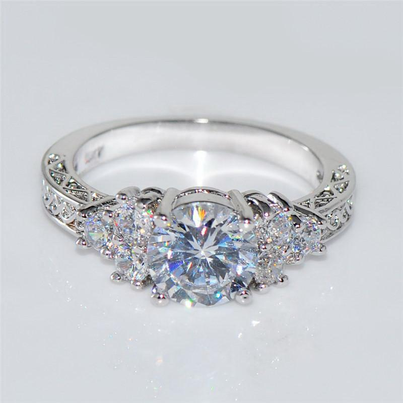 Splendid Crystal Wedding Ring POLISHED FASHIONS