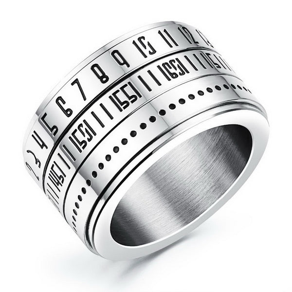 Secret Codes Rotatable Spinner Ring