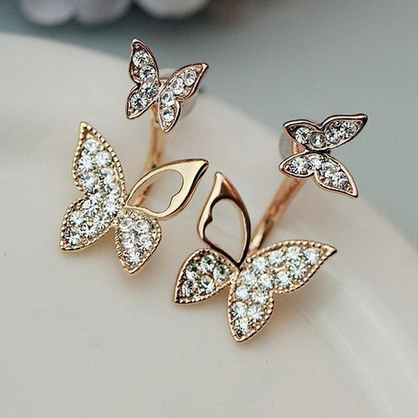 Hanging Butterfly Stud Earrings