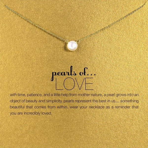 Pearl of Love Pendant Necklace