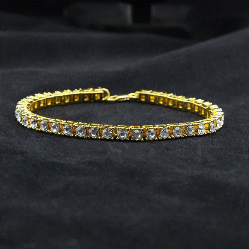 Iced Out Hip Hop Rhinestones Chain Bracelet