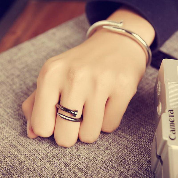 Love Nail Bracelet & Ring Set