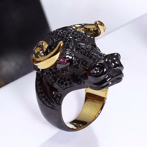 Luxurious Ox Head Ring