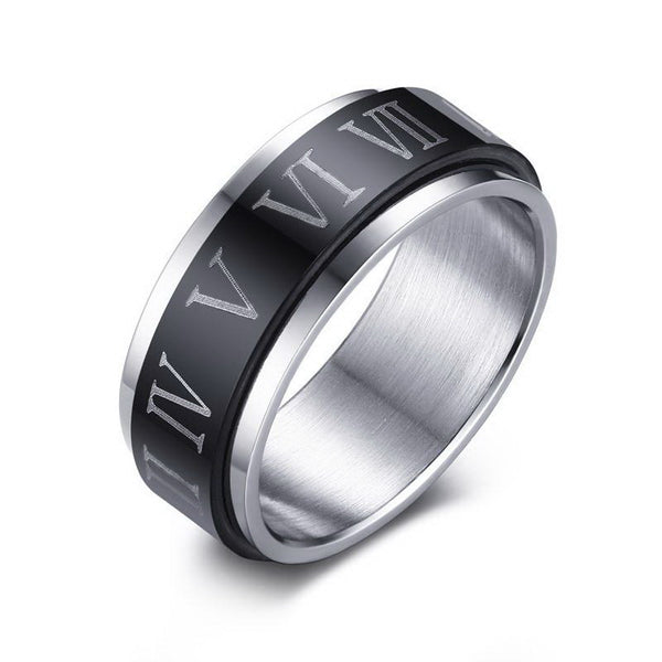 Roman Numerals Rotatable Ring