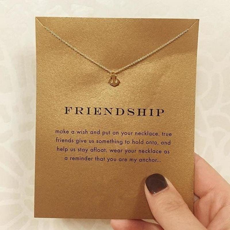 Friendship Anchor Pendant Necklace Special