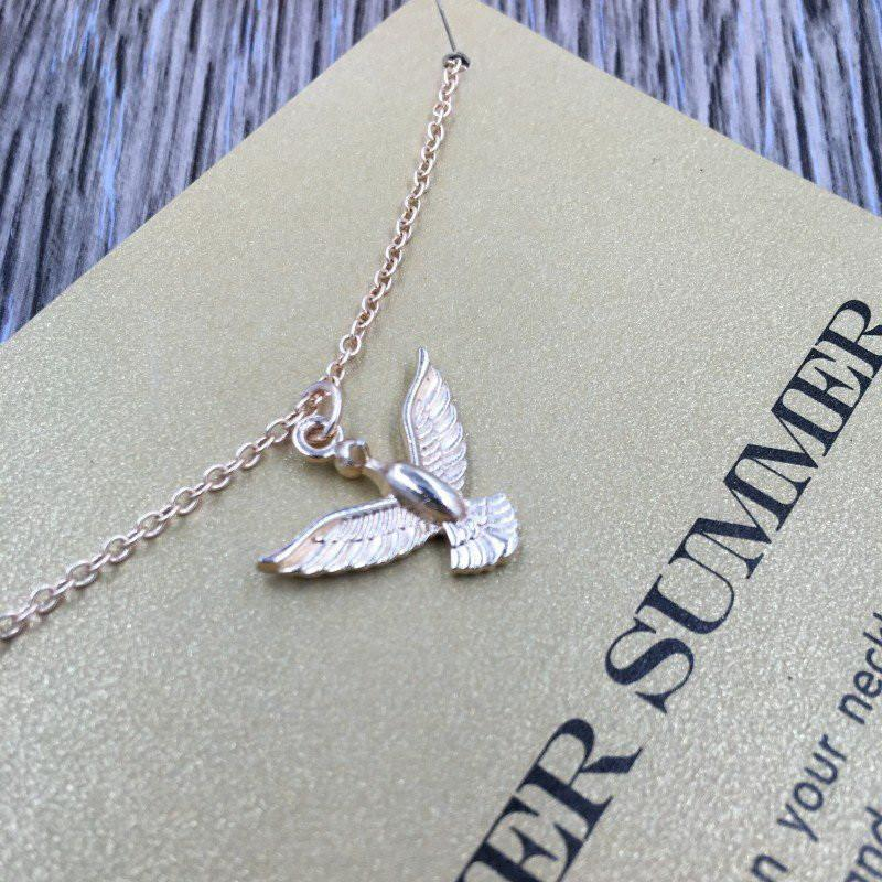 Forever Summer Love Pigeon Pendant Necklace
