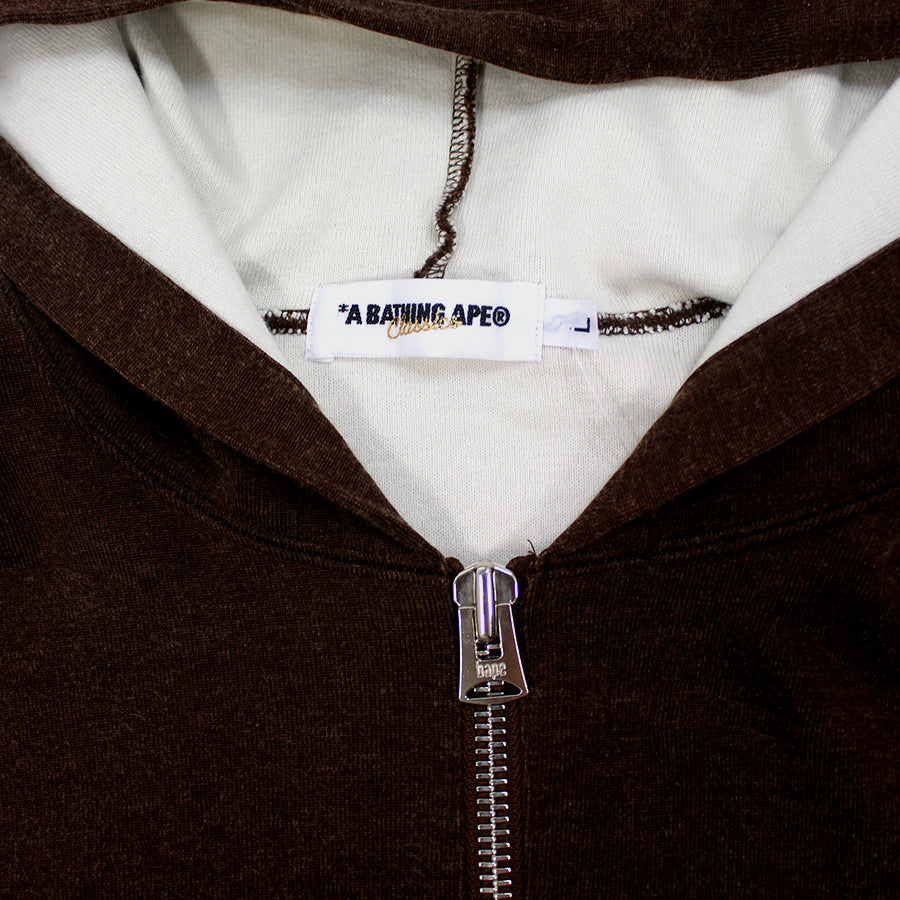 BAPE, Brown Quarter Zip Sz. L