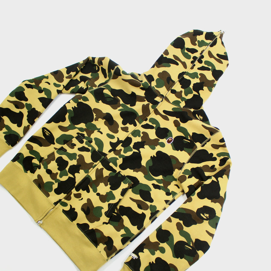BAPE, Yellow Camo Windstopper Full Zip Sz. L