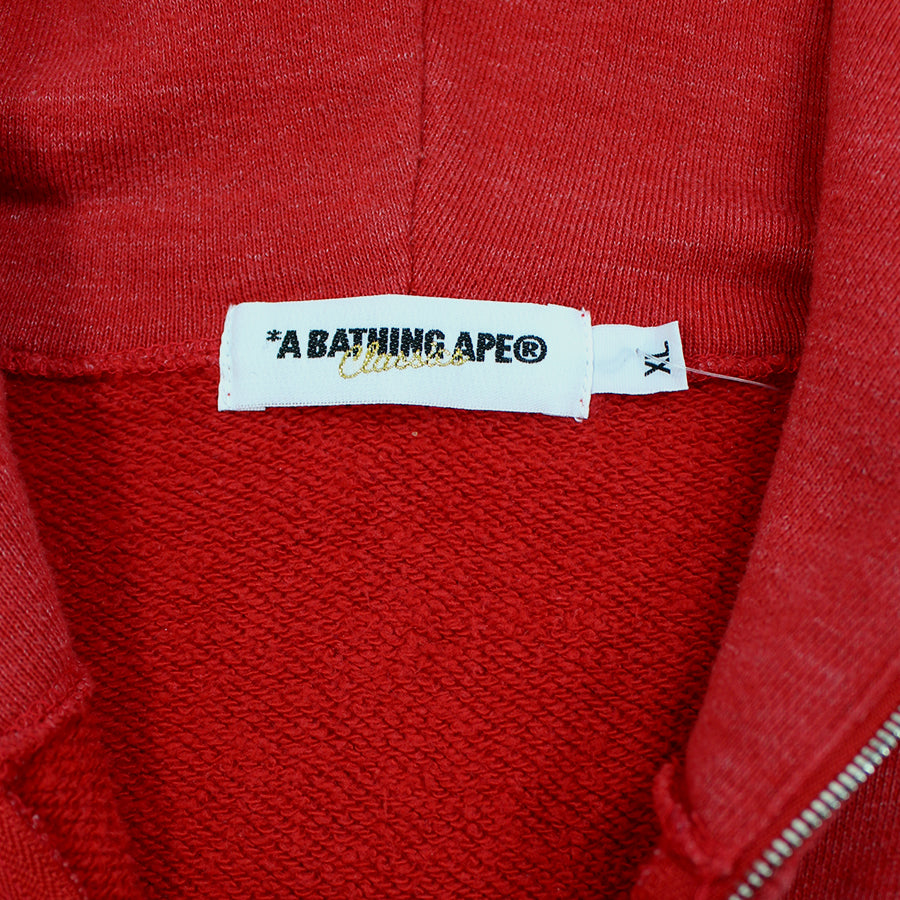 BAPE, Red Peace Milo Full Zip Sz. XL