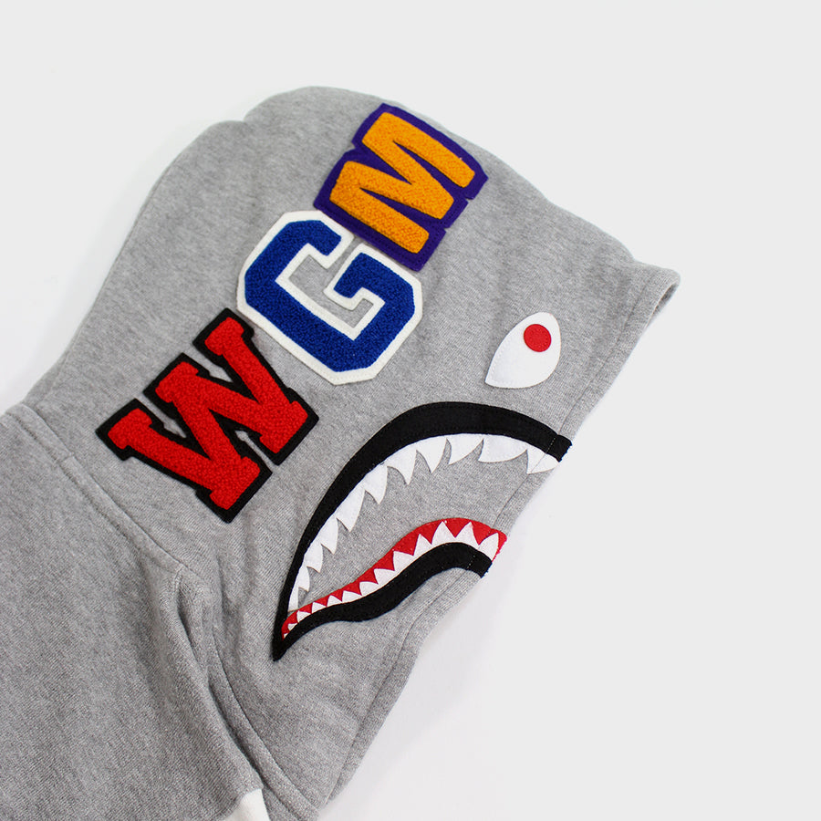 BAPE, Grey Snap Up Shark Jacket Sz. M