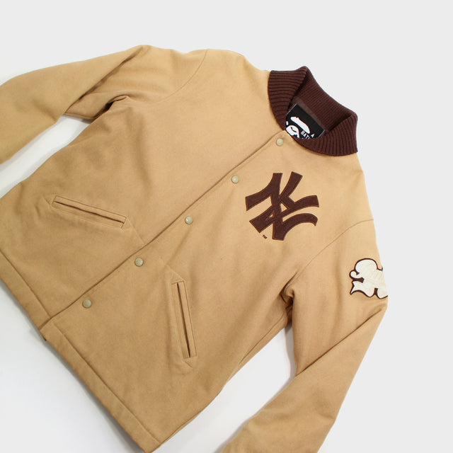BAPE, Brown Neighborhood Stadium Jacket Sz. L