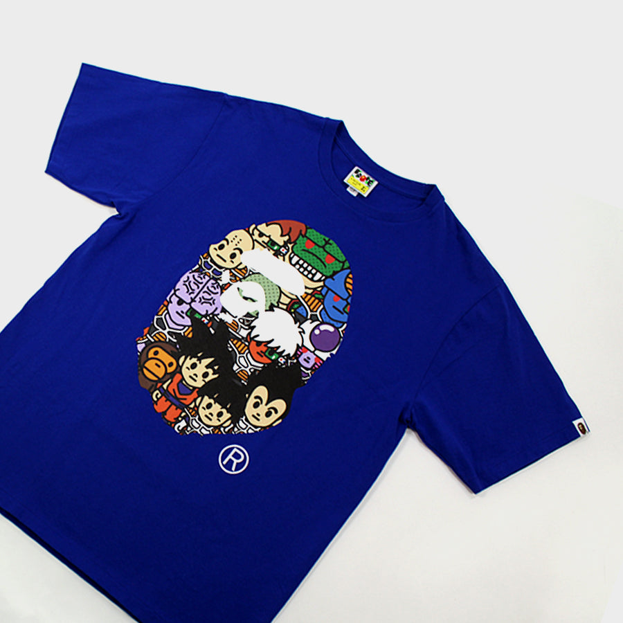Bape, Blue Dragon Ball Z Ape Head Tee Sz. XL