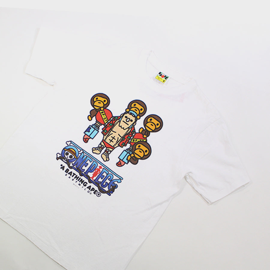BAPE, White One Piece Tee Sz. M