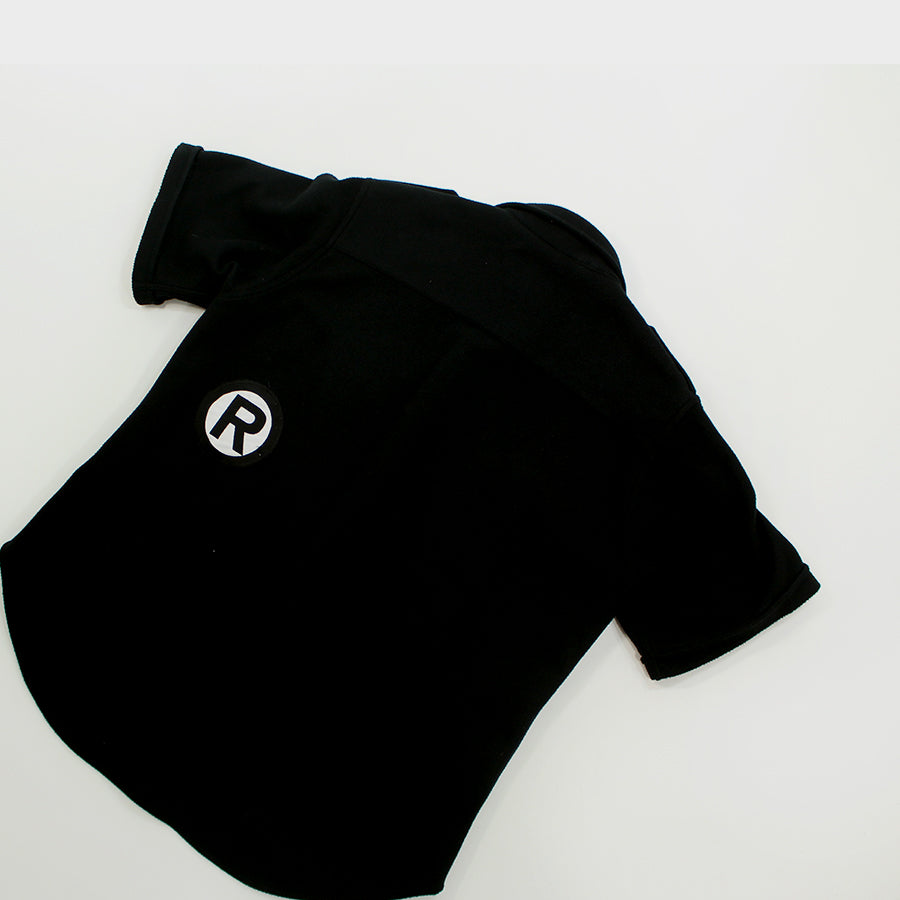 Bape, Black Polyester S/S Button Up Sz. M