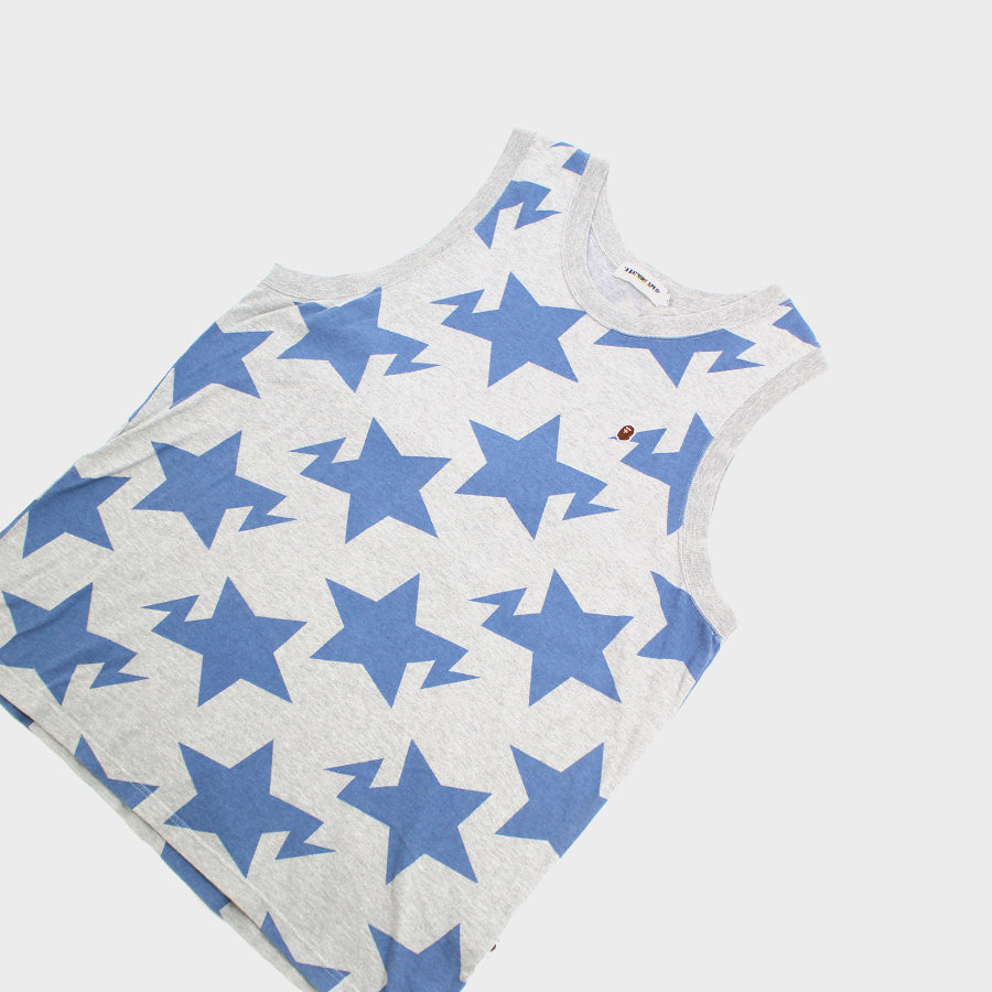 BAPE, Blue Star Tank Top Sz. XL