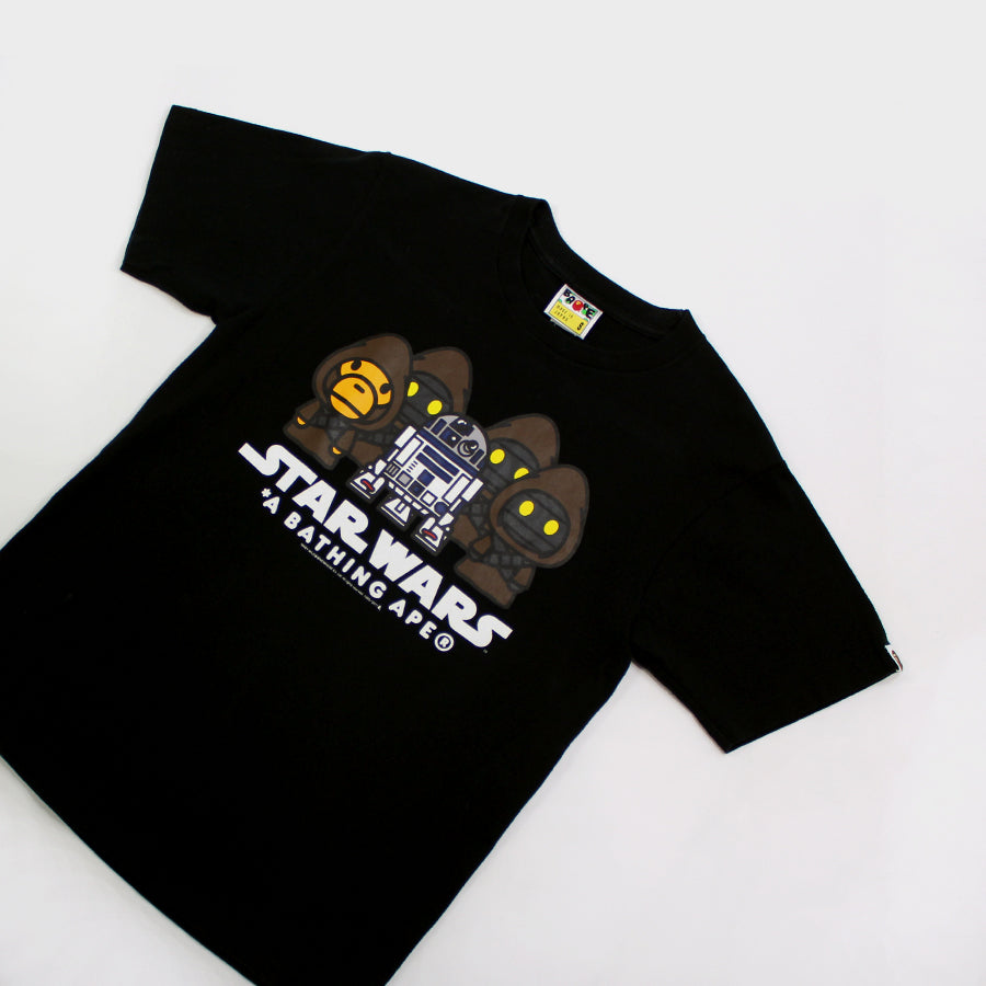 BAPE, Black Star Wars Jawwa Tee Sz. S