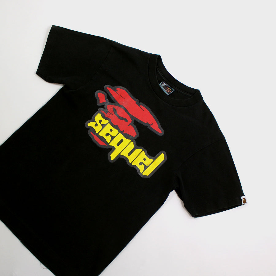 BAPE, Black Sequel Tee Sz. S