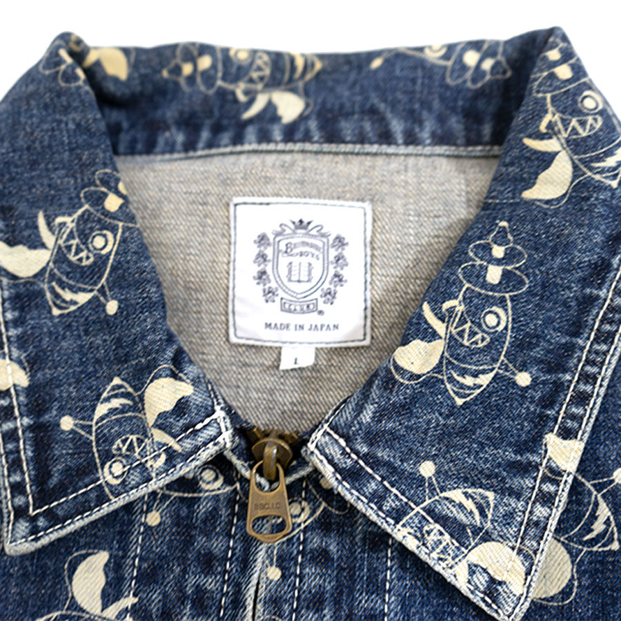 OG Ice Cream Billionaire Boys Denim Rocket Print Jacket Sz. L