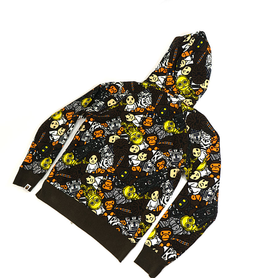 Bape Baby Milo Star Wars Full Zip-Up Hoodie Sz. M