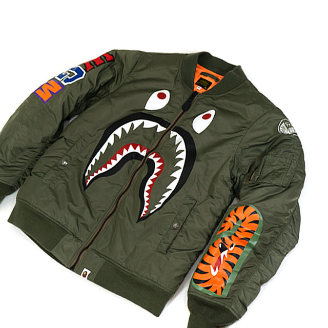 Bape MA-1 Facing Shark Bomber Jacket