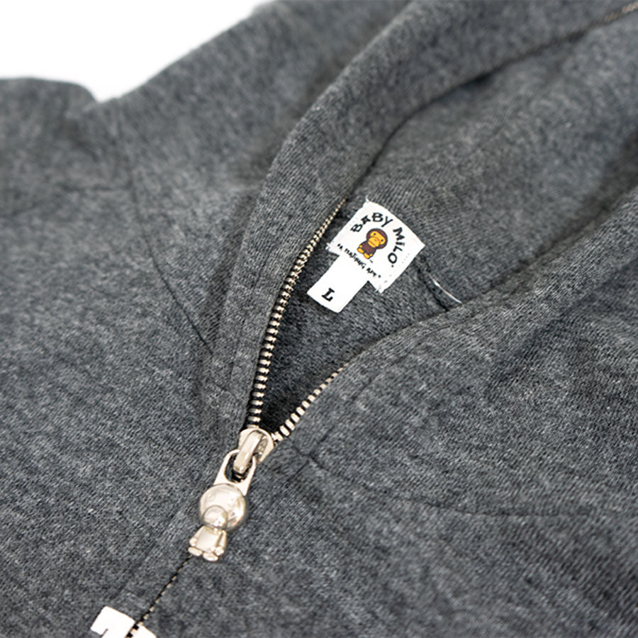 BAPE Bathing Ape Arc Logo Zip Up Sweater Sz. L