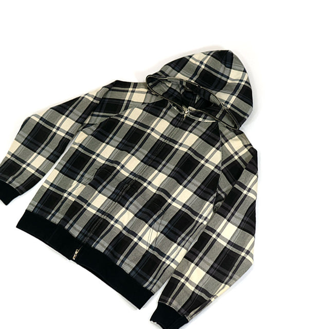 Bape Vintage Zip Up Checkered Hoodie