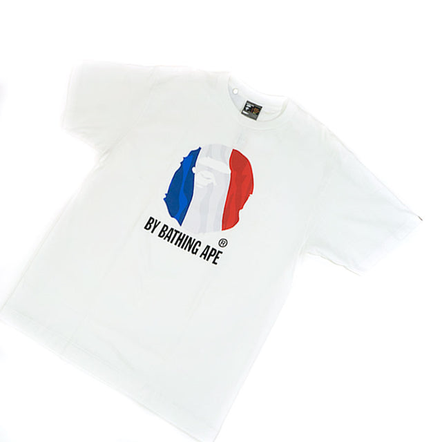 OG Bape France Flag Busy Works Tee