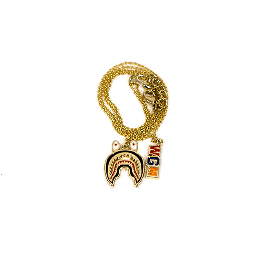BAPE Shark WGM Gold Necklace