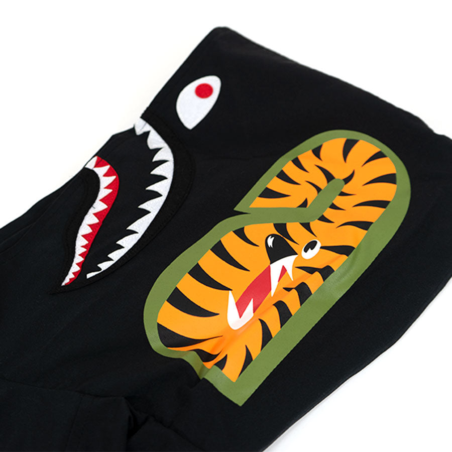 Bape Shark Nylon Zip Up Hoodie