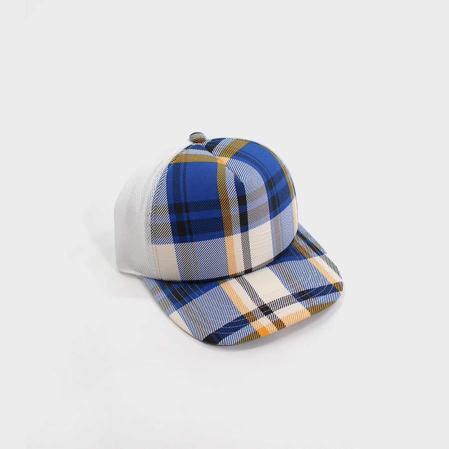 Bape, Plaid Trucker Blue 6-panel