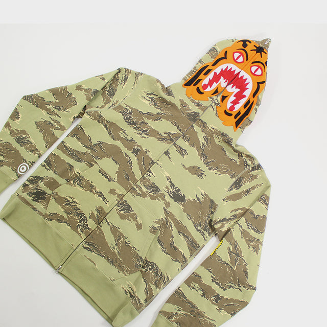 BAPE, Green Tiger Camo Full Zip Sz. XL