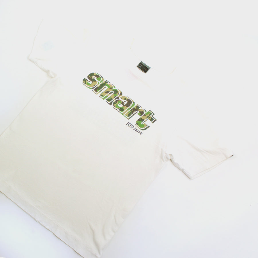 BAPE, White Smart 100 Issue Tee Sz. M
