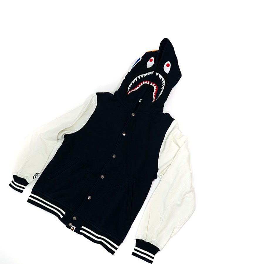 Bape Hooded Varsity Shark Jacket Sz. XL