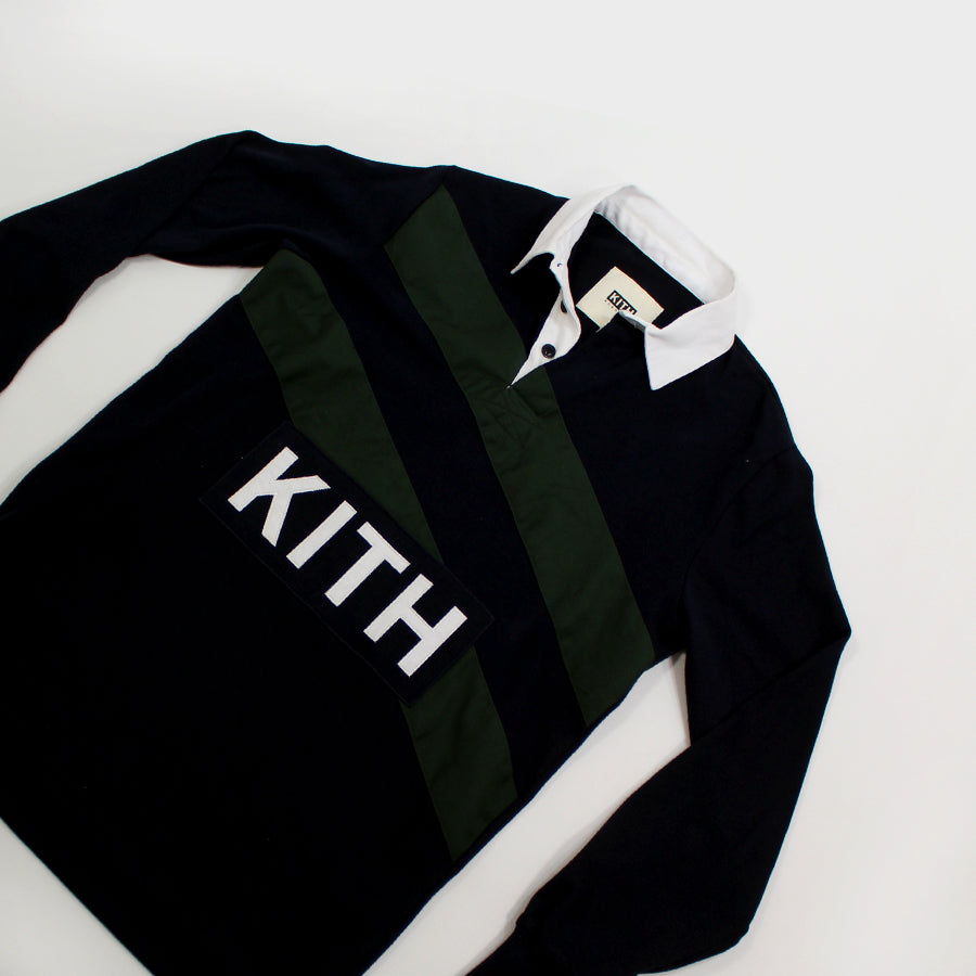 KITH, Navy Rugby Shirt Sz. XS