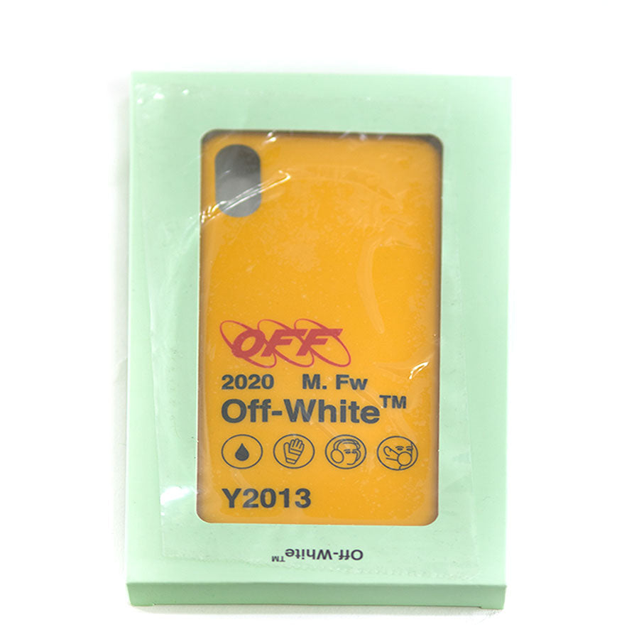OFF WHITE, Yellow iPhone X Case