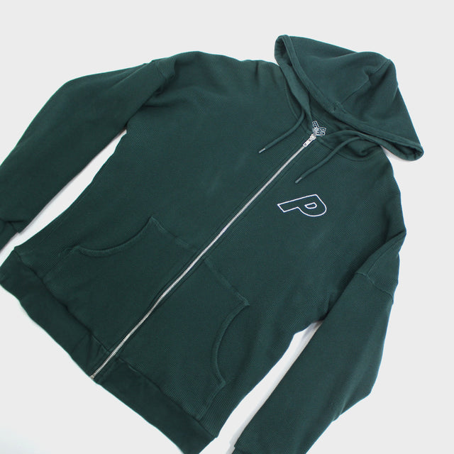 PALACE, Green Thermal Full Zip Sz. XXL
