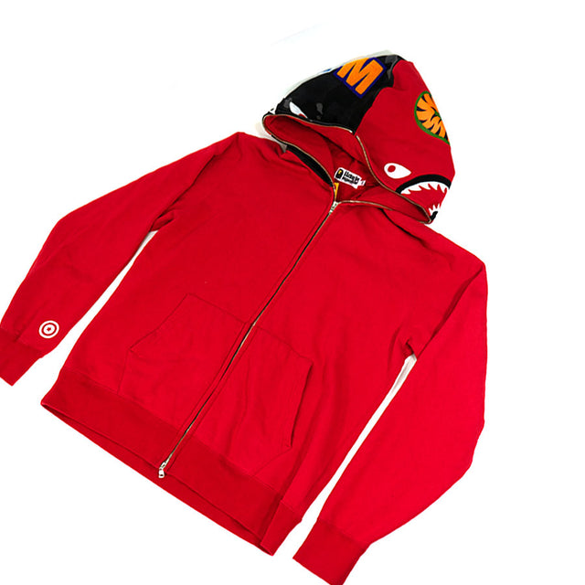 BAPE Red Shark Full Zip Hoodie