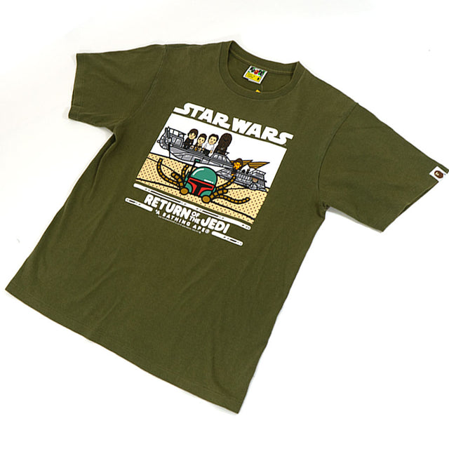 Bape Baby Milo Star Wars Return of the Jedi Tee Sz. M