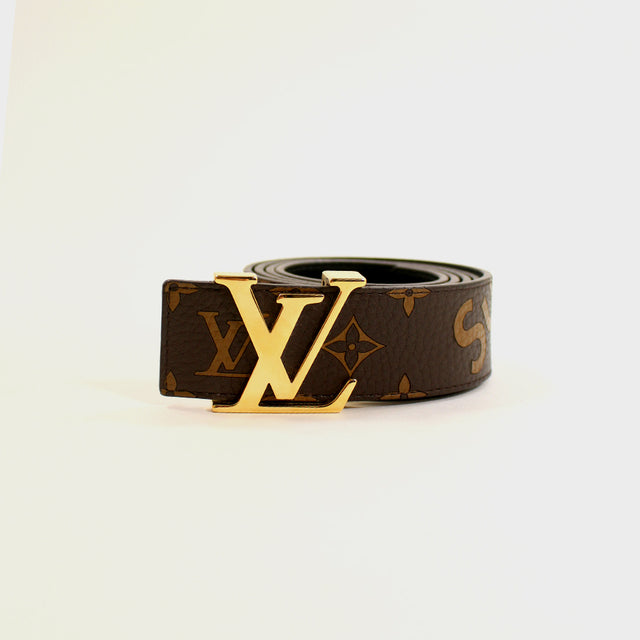 Supreme, Louis Vuitton Brown Monogram Belt