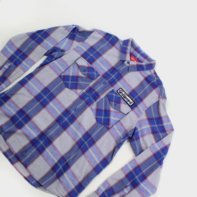 Supreme, Royal God Bless Flannel Sz. L