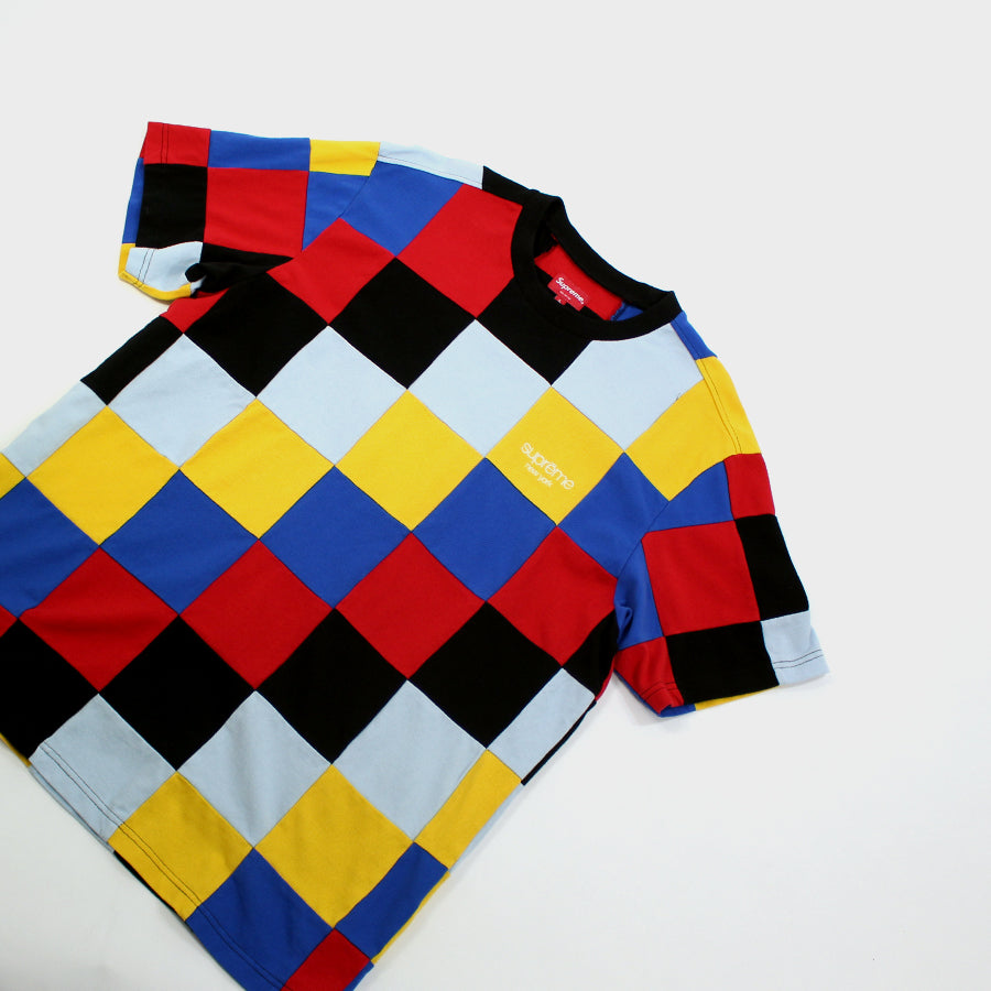 Supreme, Multi-color Patchwork Pique Sz. M