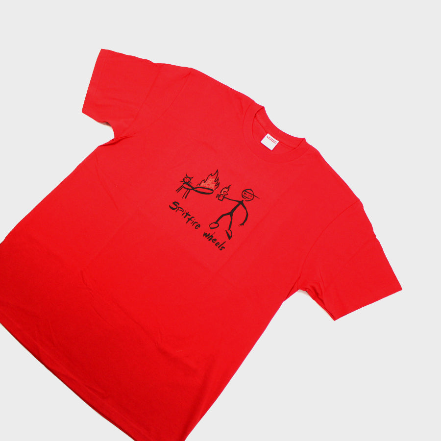 Supreme, Red Spitfire Cat Tee Sz. L